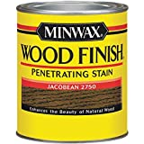Minwax 227504444  Wood Finish Penetrating Interior Wood Stain, 1/2 pint, Jacobean