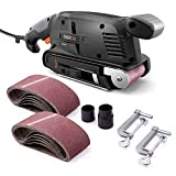 TACKLIFE Belt Sander 3×18-Inch with 13Pcs Sanding Belts, Bench Sander with Variable-speed Control, Fixed Screw Clamps, Dust Box, Vacuum Adapters, 10Feet (3 meters) Length Power...
