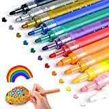 Acrylic Paint Pens for Rocks Painting, Ceramic, Glass, Wood, Fabric, Canvas, Mugs, DIY Craft Making Supplies, Scrapbooking Craft, Card Making. Acrylic Paint Marker Pens Set of 12...