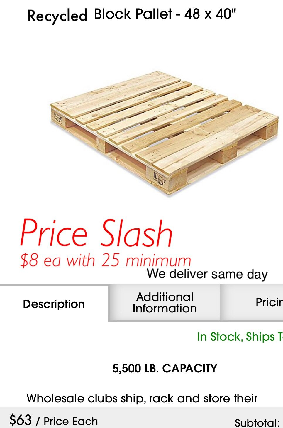 Cheap Pallets Same Day Delivery Pickup In Dallas Tx Usa