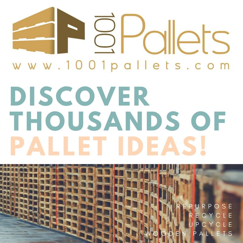 Pallets as store decoration and furniture