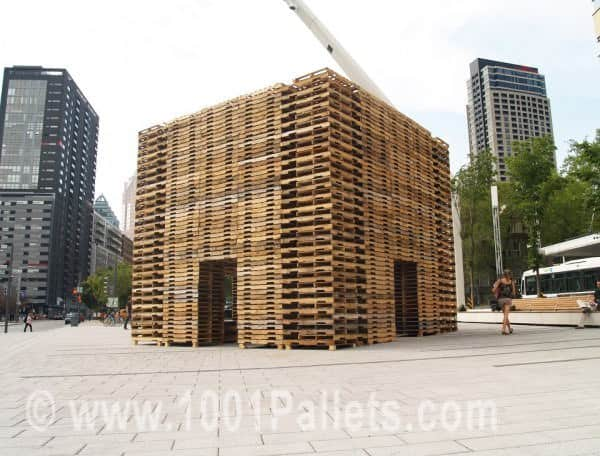 800 Pallets Installation by Justin Duchesneau & Phil Allard Pallet Store, Bar & Restaurant Decorations