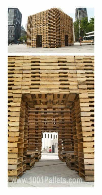 800 Pallets Installation by Justin Duchesneau & Phil Allard