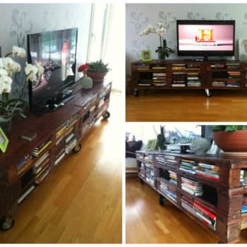 Amazing & Practical TV Set from Recycled Pallets