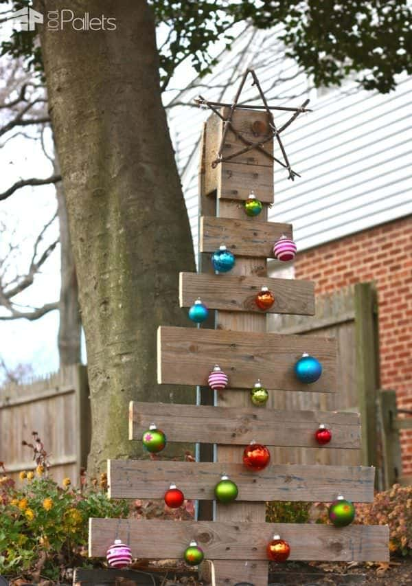 Branch-starred Pallet Christmas Tree Pallet Home Accessories