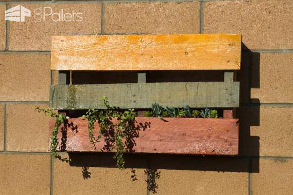 Colored Pallet Planters Pallet Planters & Compost Bins