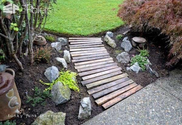 Diy: Garden Pallets Walkway Pallet Terraces & Pallet Patios