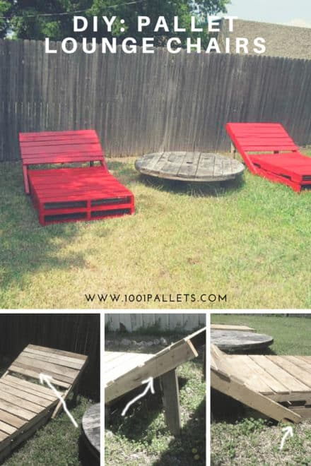 Diy: Pallet Lounge Chairs
