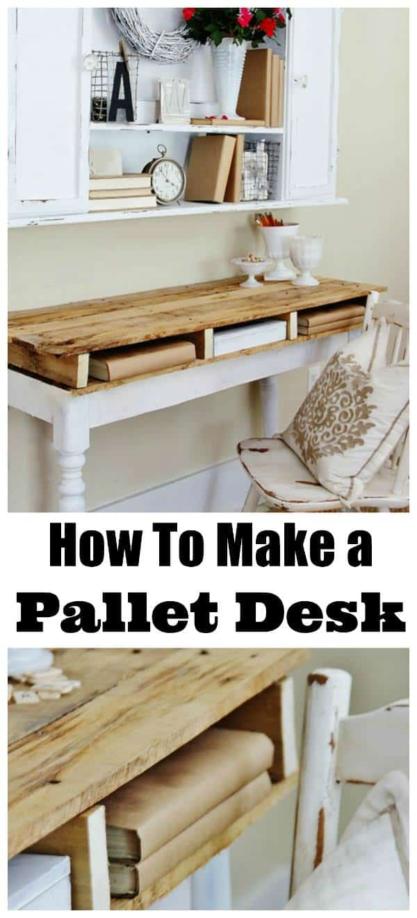 Diy: Rustic Pallet Top Desk Desks & Tables