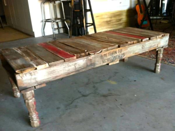 Homemade Pallet Coffee Table 1001 Pallets