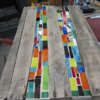 Mosaic Pallet Table