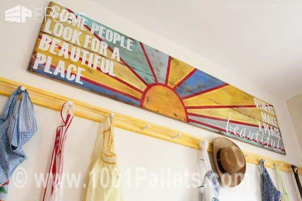 Pallet as Message Canvas Pallet Wall Decor & Pallet Painting