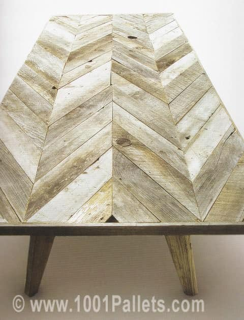 Pallet Chevron Coffee Table Pallet Coffee Tables