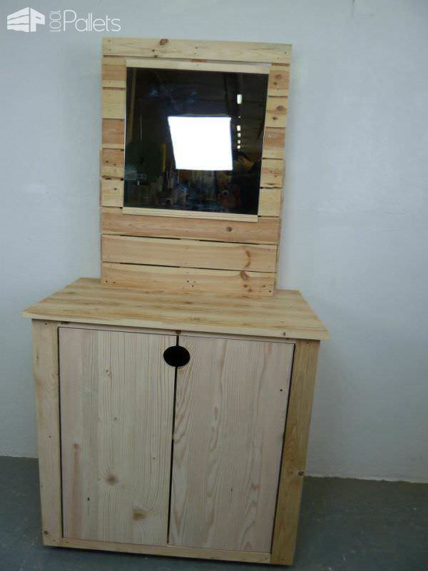 Pallet Dresser With Side Drawers Pallet Cabinets & Wardrobes
