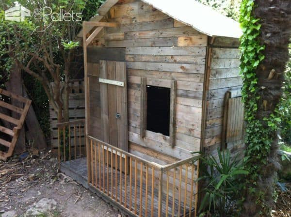 Kids Pallet Playhouse Pallet Sheds, Cabins, Huts & Playhouses