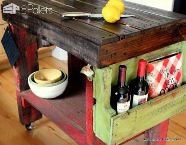 Pallet Island for Your Kitchen Pallet Desks & Pallet Tables