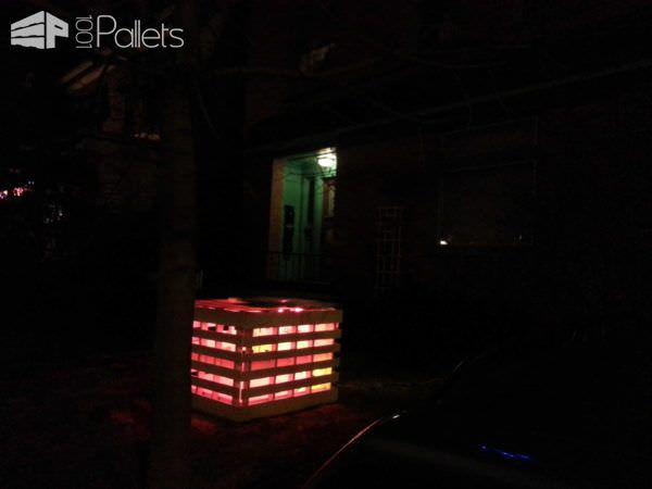Pallet Light Box - Fireplace or Postmodern Nativity Scene Lounges & Garden Sets Pallet Lamps & Lights