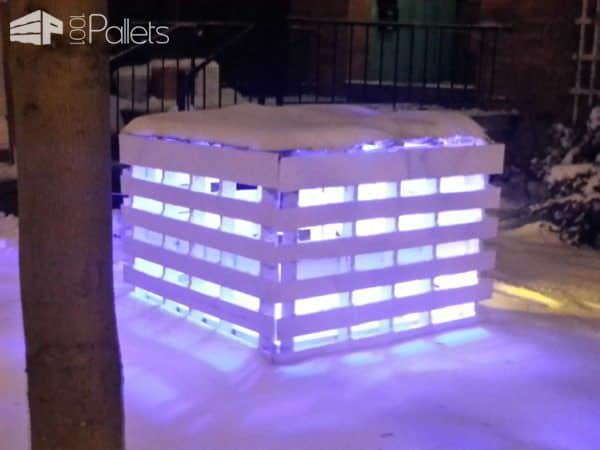 Pallet Light Box – Fireplace or Postmodern Nativity Scene Lounges & Garden Sets Pallet Lamps, Pallet Lights & Pallet Lighting