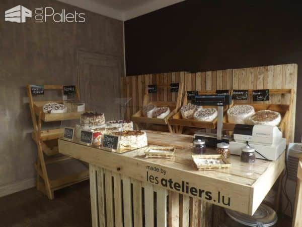 Pallet Nougat Store Pallet Store, Bar & Restaurant Decorations