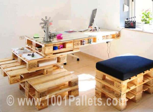 Pallet Office Pallet Benches, Pallet Chairs & Pallet Stools