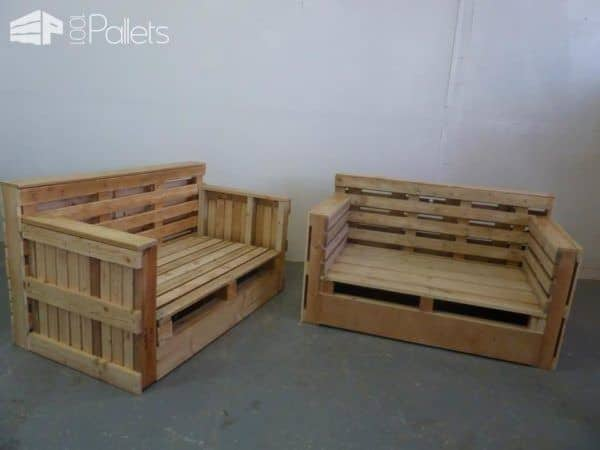 Pallet Sofa & Armchair from Repurposed Pallets Pallet Benches, Pallet Chairs & StoolsPallet Sofas & Couches