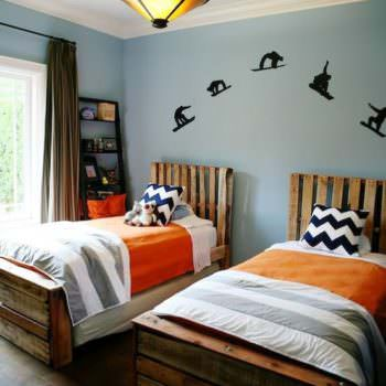 Twin Pallet Beds