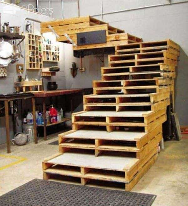 Pallet Stairs Pallet Staircase
