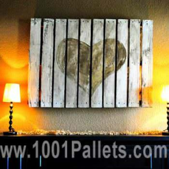 Pallet Wall Frame Art for the Lovers
