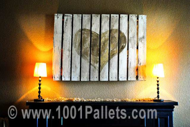 Pallet Wall Frame Art for the Lovers Pallet Wall Decor & Pallet Painting