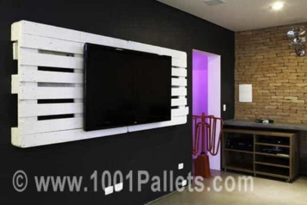 Pallet Wall TV Holder Pallet TV Stand & Rack
