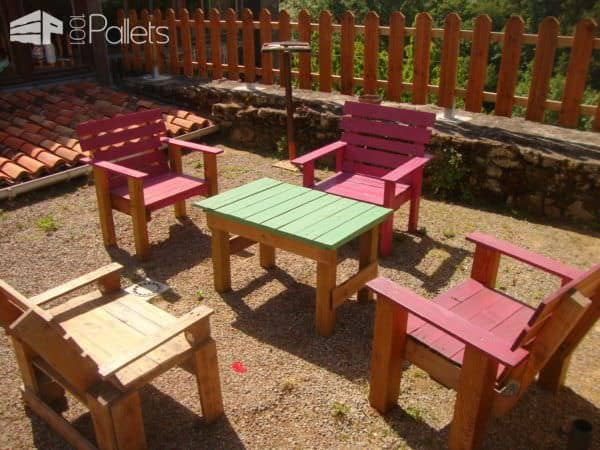 Pallets Garden Armchairs Pallet Benches, Pallet Chairs & Stools