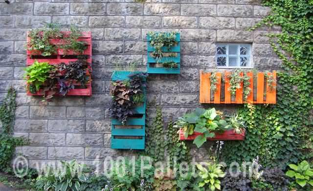 Pallets Wall Gardens Pallet Planters & Compost Bins