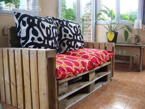 Raw Pallet Sofa Pallet Sofas & Couches