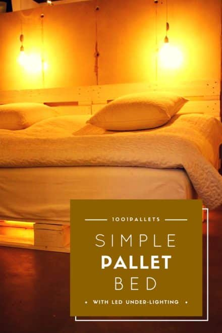 Simple Pallet Bed With LED Under-lighting