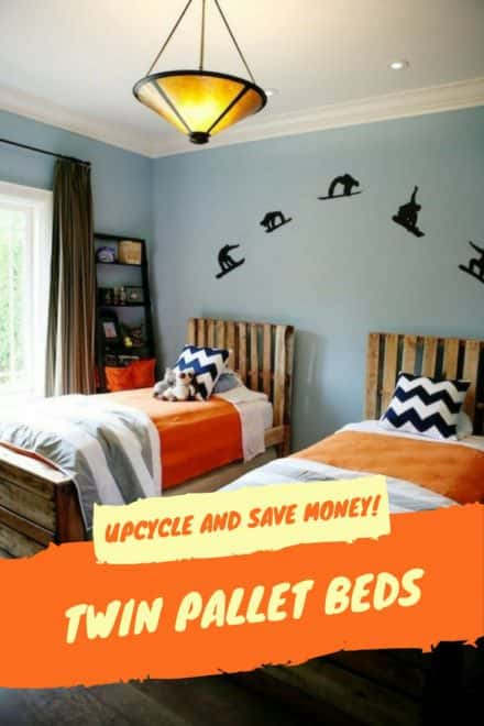 Twin Pallet Beds Save Money, Increase Style