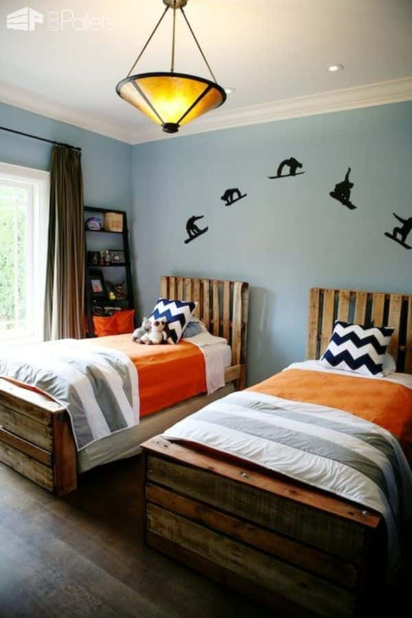 Twin Pallet Beds Save Money, Increase Style Pallet Beds, Pallet Headboards & Frames