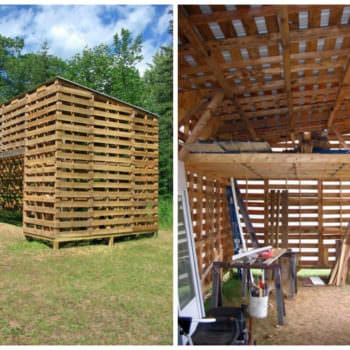 Upcycled Pallet Barn