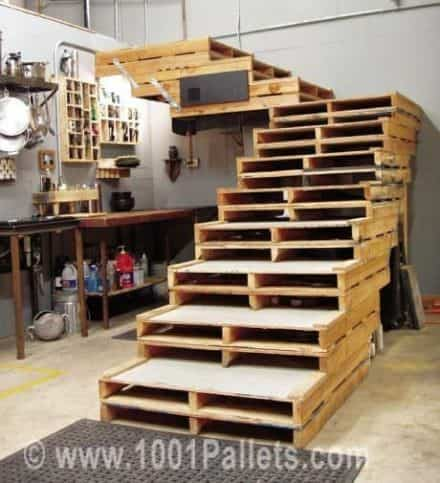 Wide, Sturdy, Attractive Pallet Stairs