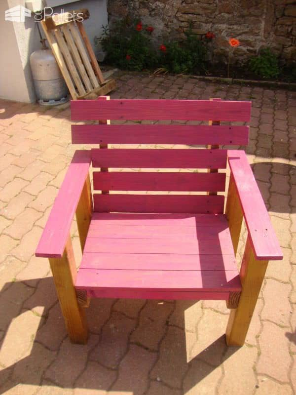 Pallets Garden Armchairs Lounges & Garden Sets Pallet Benches, Pallet Chairs & Stools