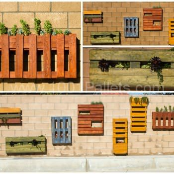 Colored Pallet Planters