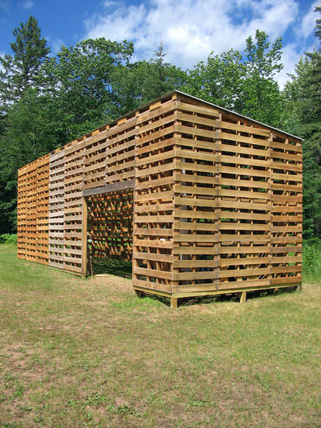 pallet barn Pallet Barn in pallets architecture  with Pallets