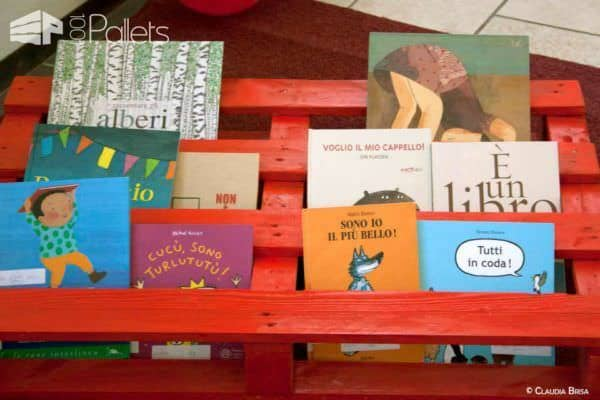 Books Pallet Rack Fun Pallet Crafts for Kids Pallet Bookcases & Bookshelves Pallet Shelves & Pallet Coat Hangers