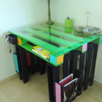 Desk Entirely Made From Repurposed Pallets