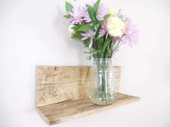 Floating Wall Pallet Shelves Pallet Shelves & Pallet Coat Hangers