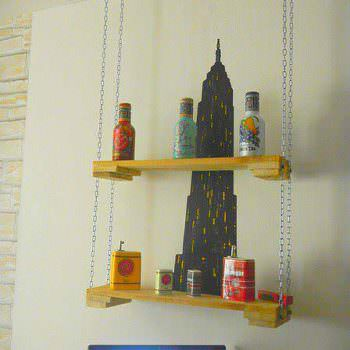 Hanging Pallet Shelf With Chains