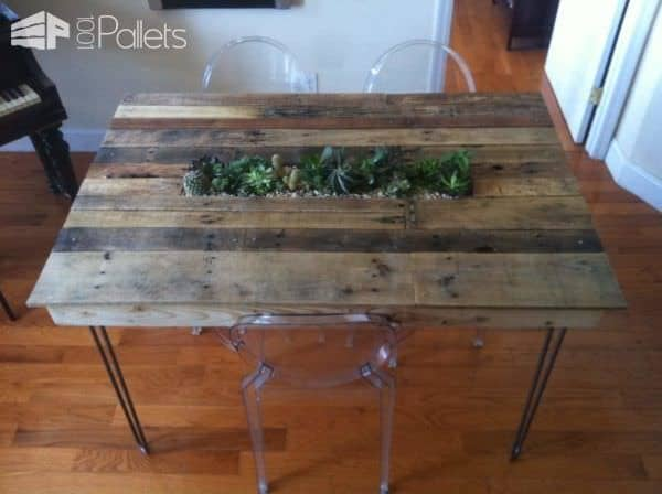 Pallet Succulent Table Pallet Desks & Pallet Tables