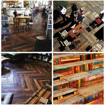 Pallets Flooring in Kex Hostel (Iceland)