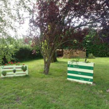 Recycled Pallet as Garden Decoration