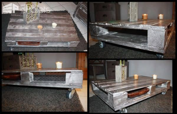 Recycling Pallets at 100% DIY Pallet Bed Headboard & FramePallet Coffee Tables