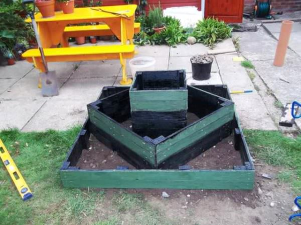 Three Tiered Pallet Herb Planter Planters & Compost